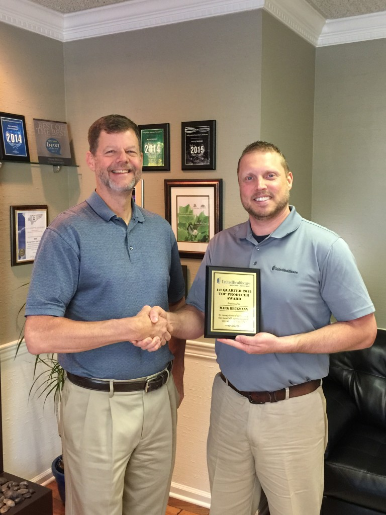 Mark Beckmann and Kevin Burchette- Top Producer 1st Quarter Award